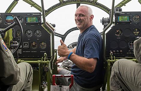 Riding in B-29 Doc