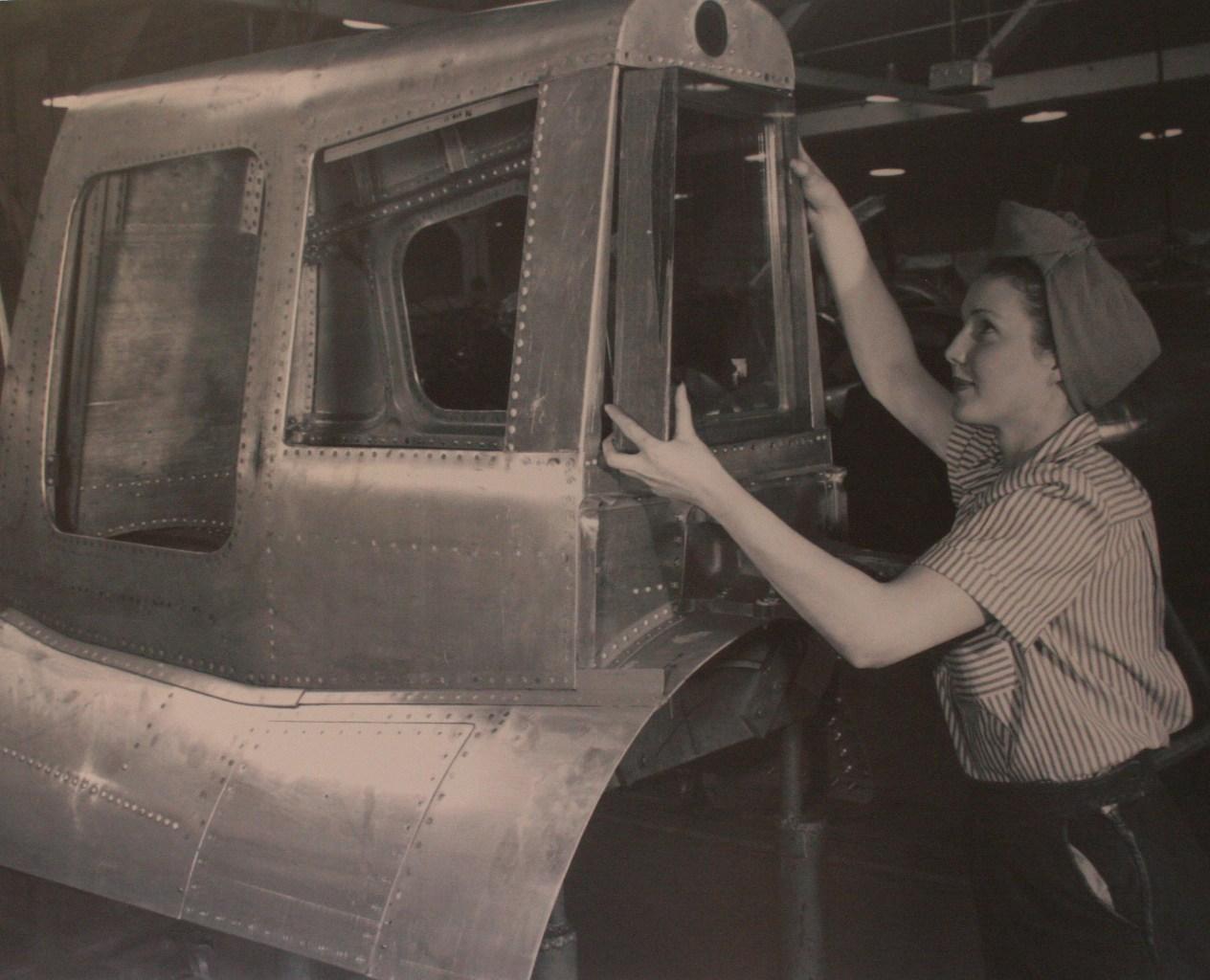 Rosie Riveter building B-29