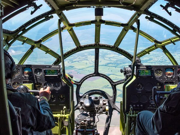 Flying in B-29 Doc