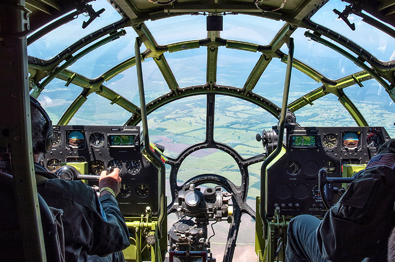 Flying in B-29 Doc