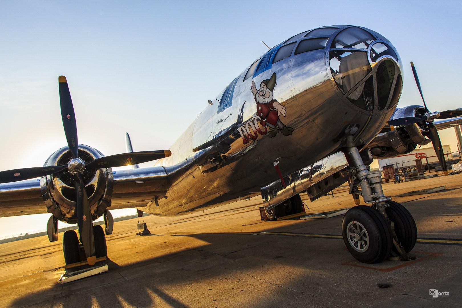 B-29 Doc at sunset