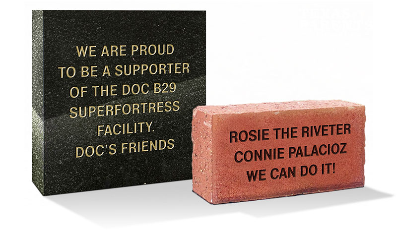 B-29 Doc engraved bricks