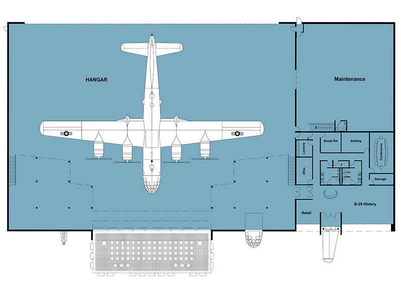 hangar floorplan