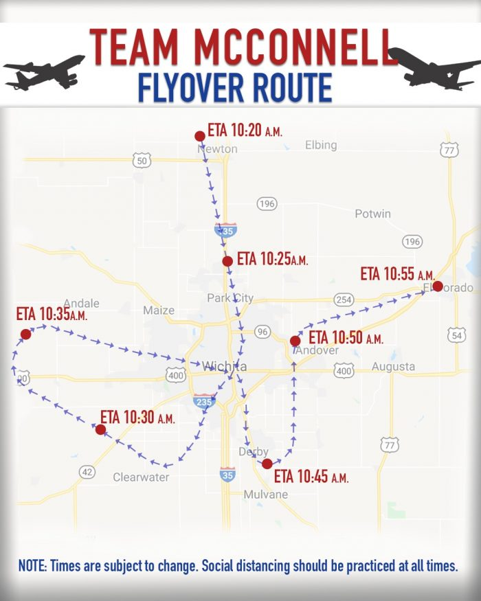 Operation America Strong Flyover Route