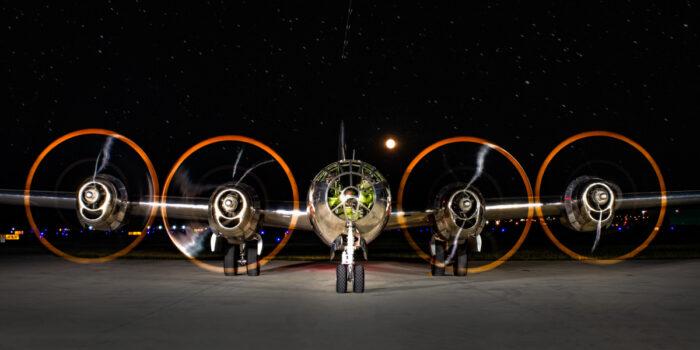 B-29 Doc Nighttime Engine Run